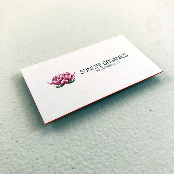 32pt Uncoated Painted EDGE Business Cards printing
