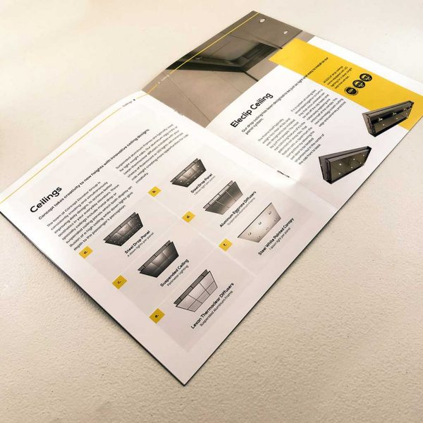 Industrial full page catalog printing inside