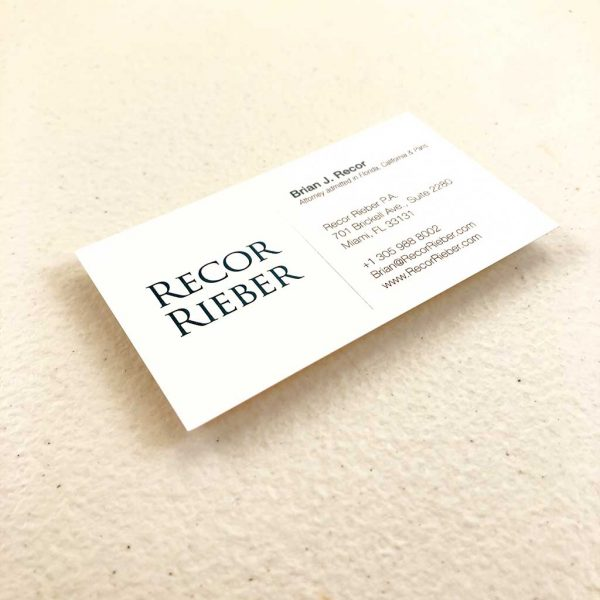 Linen business cards printing Attorneys