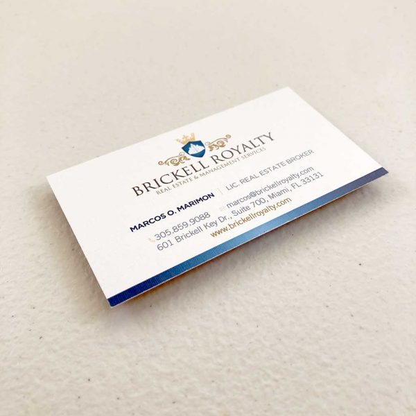 Linen business cards printing Realtor