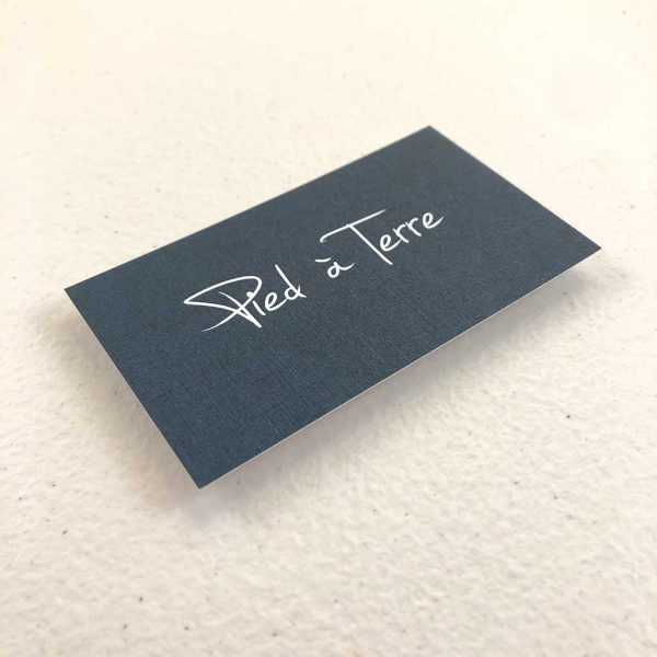Linen business cards printing Restaurant