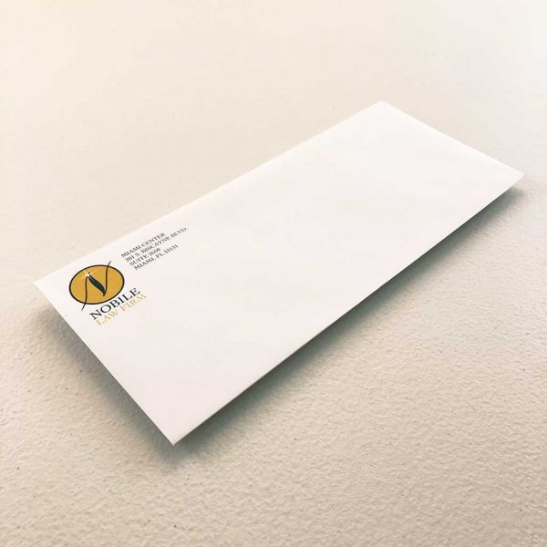 Number 10 envelope printing