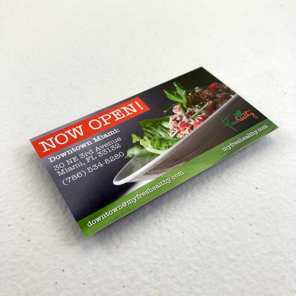Regular business card printing Restaurant
