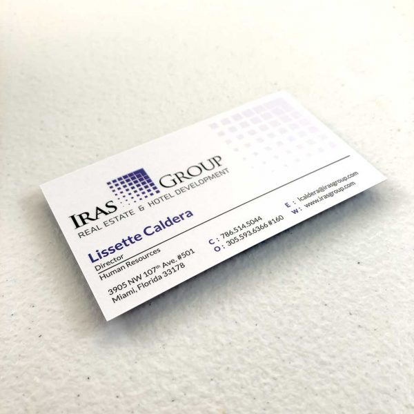 Silk laminated business card printing Real Estate