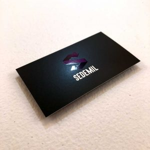 16pt Silk Laminated Business Cards