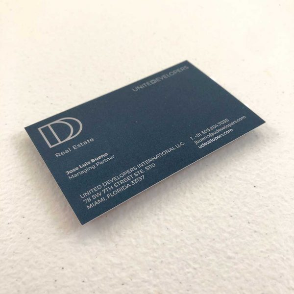 Suede business cards printing Real Estate - Realtor