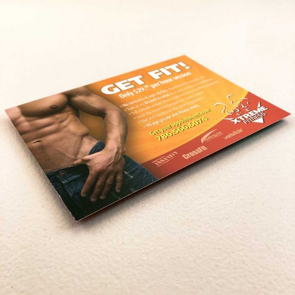 Gym advertising postcard printing